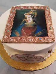 Unique 56 Sultana Portrait Birthday Cake