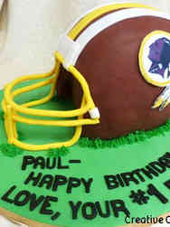 Sports 25 3D Washington Redskins Football Helmet Birthday Cake