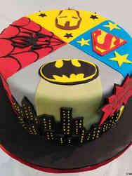 Superheroes 13 Wheel of Superheroes Birthday Cake