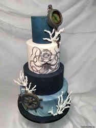 Unique 32 Deep Sea Wedding Cake