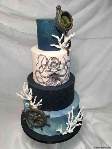Unique 32 Deep Sea Wedding Cake