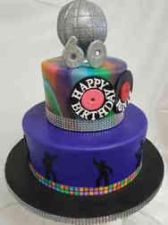 Pop 16 Disco Dancing Birthday Cake