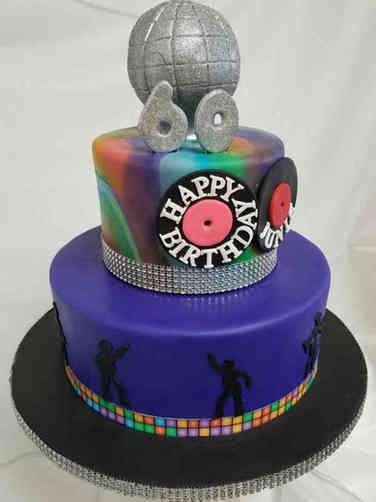 Pop 16 Disco Dancing Birthday Cake