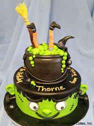 Autumn 02 Witch's Brew and Frankenstein Halloween Cake