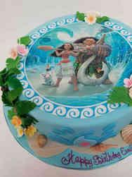 Princesses 40 Moana and Maui Birthday Cake