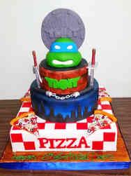 Superheroes 02 Teenage Mutant Ninja Turtles Pizza Box Birthday Cake