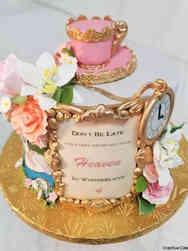 Princesses 06 Alice in Wonderland Tea Party Birthday Cake