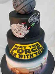 Pop 14 Star Wars Birthday Cake
