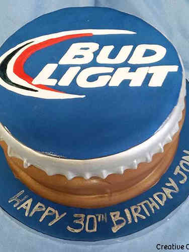 Food 02 Bud Light Bottle Cap Birthday Cake