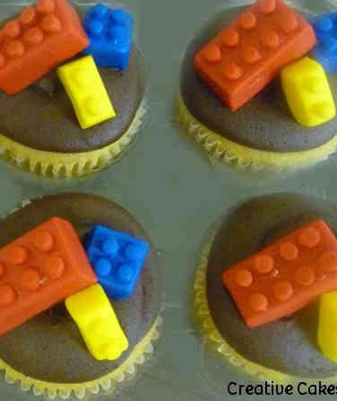 Kids 18 Lego Pieces Birthday Cupcakes