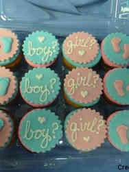 Other 21 Baby Footprints Gender Reveal Cupcakes