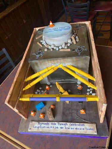 Corporate 28 Purple Line Construction Celebration Cake
