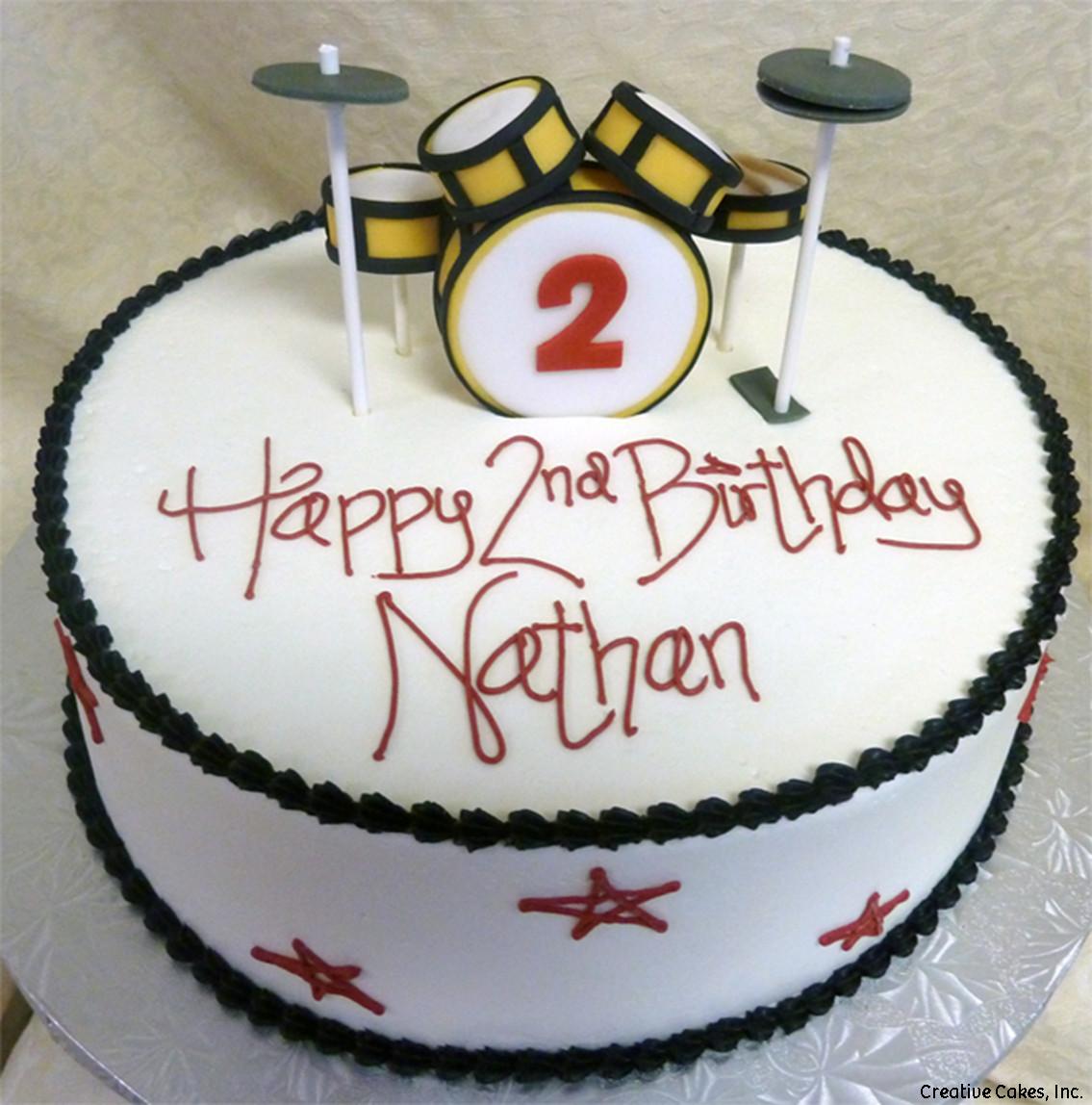 Sports 31 Drumset Birthday Cake