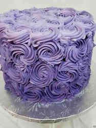 Other 08 Purple Rosettes Celebration Cake