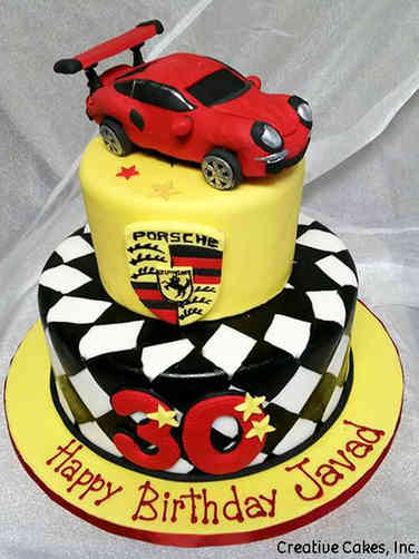 Hobbies 02 Porsche Birthday Cake