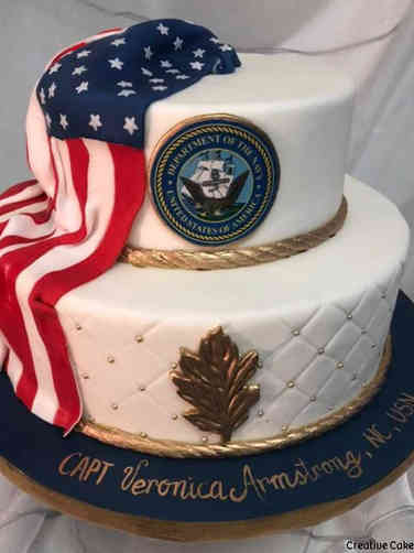 Military 28 US Navy Military Promotion Cake