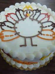 Autumn 10 Turkey Sketch Thanksgiving Cake