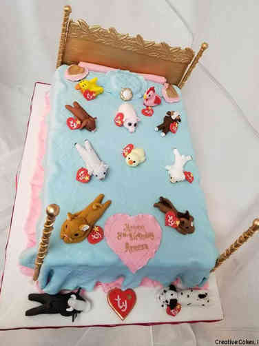 Toys 11 Beanie Babies Bed Birthday Cake