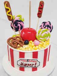 Unique 17 Popcorn Bucket Fair Food Birthday Cake