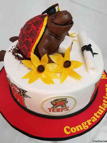 College 06 University of Maryland Terrapin Graduation Cake