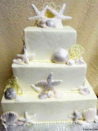 Unique 24 Sea Star Wedding Cake
