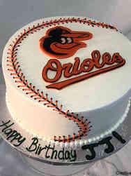 Sports 50 Baltimore Orioles Baseball Birthday Cake