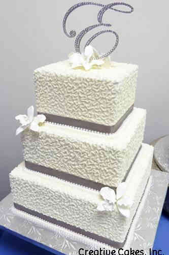 Elegant 10 Cornelli Lace Wedding Cake