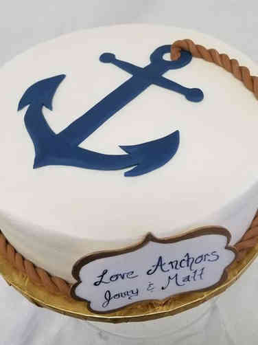 Unique 03 Nautical Themed Wedding Shower Cake
