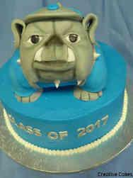 College 24 Georgetown Bulldog Graduation Cake