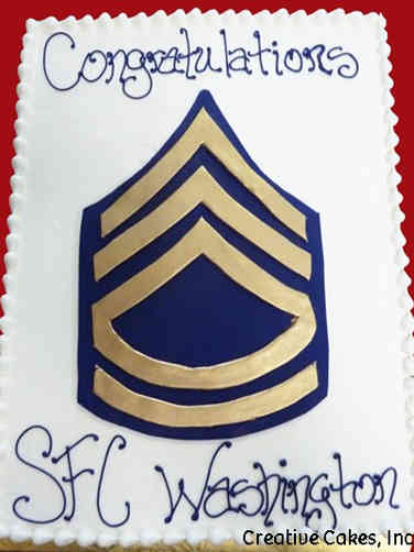 Military 14 Sergeant First Class Insignia Military Promotion Cake