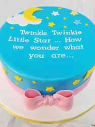 Reveal 08 Little Star Gender Reveal Cake