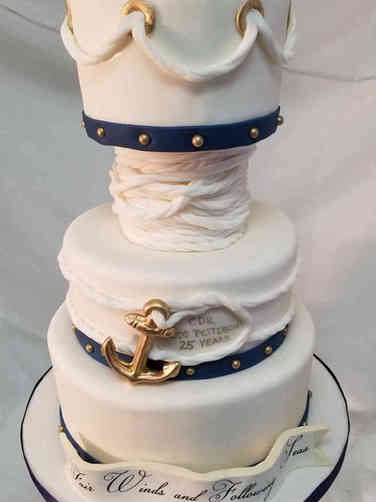 Military 27 Anchors Aweigh Military Promotion Cake