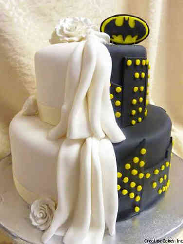 Unique 20 Batman Wedding Cake