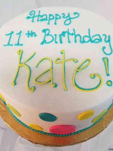 Other 04 Neon Polka Dots Birthday Cake