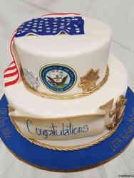 Military 03 Navy Flag Drap Military Promotion Cake