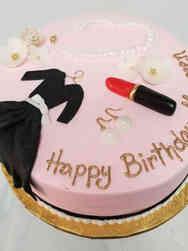 Fashion 23 Little Black Dress Birthday Cake