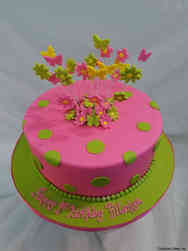 Girls 30 Pink and Green First Birthday Cake Girls 31 Pink and Paws First Birthday Cake Girls 30 Pink and Green First Birthday Cake