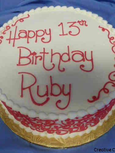 Other 20 Pink Scrolls Birthday Cake