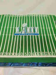 Other 17 Superbowl Football Field Celebration Cake