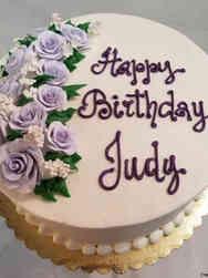 Floral 17 Lavender Roses Birthday Cake