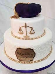 Grad School 02 Tiered Law School Graduation Cake