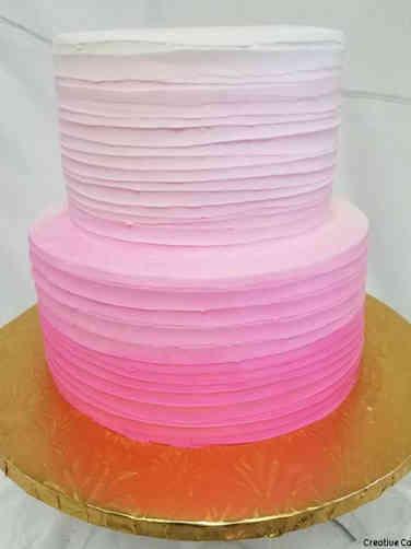 Unique 04 Pink Ombre Bridal Shower Cake