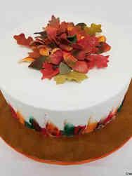 Autumn 22 Autumn Leaves and Colors Celebration Cake