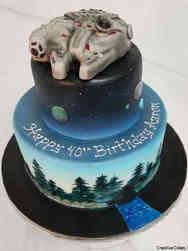 Pop 09 Star Wars Millenium Falcon Birthday Cake