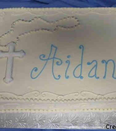 Other 22 Elegant Rosary Baptism Cake