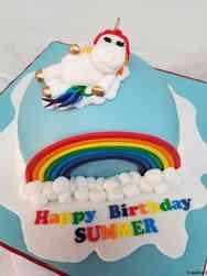 Animals 19 Kiki the Unicorn Rainbow Birthday Cake