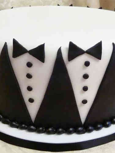 Unique 27 Tuxedo Wedding Cake