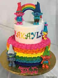 Movies 10 Rainbow Trolls Birthday Cake