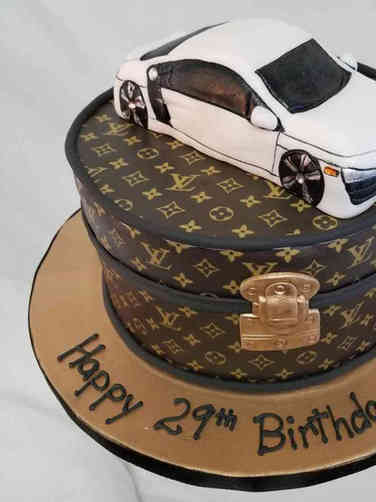Hobbies 17 Audi Louis Vuitton Birthday Cake