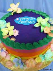 Princesses 27 Moana Flowers and Shells Birthday Cake